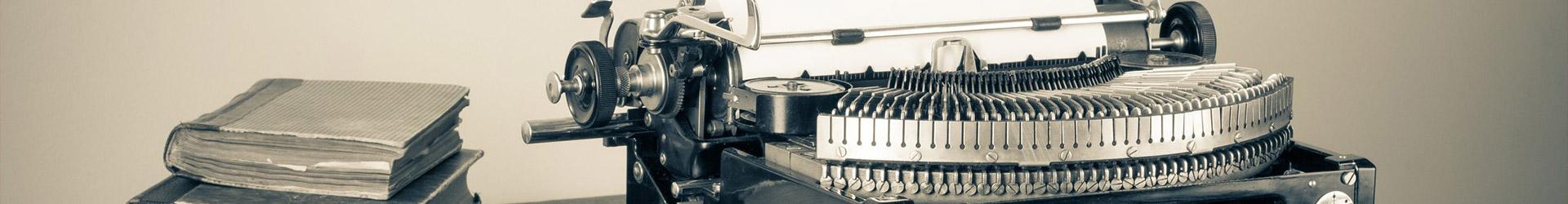 about us typewriter books